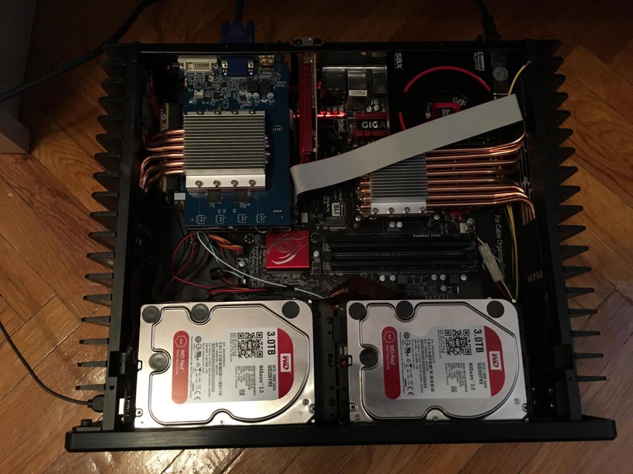 HDPLEX Fanless H5 PC case build log