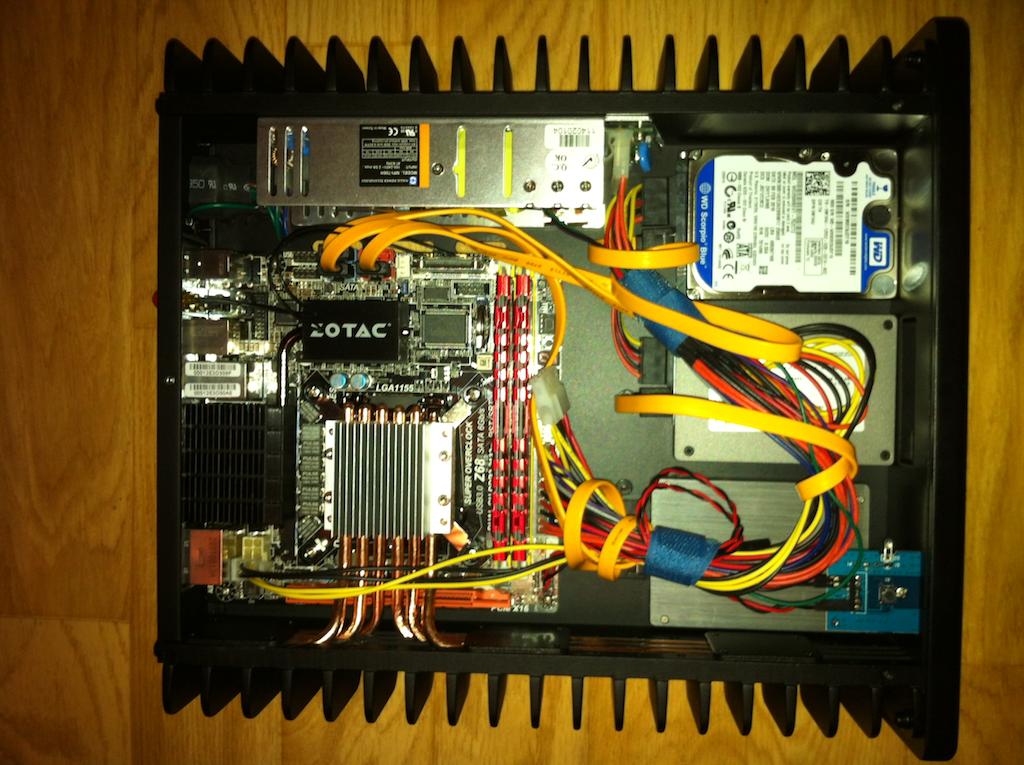 H3.SODD silent passive HTPC case with Zotac Z68-ITX