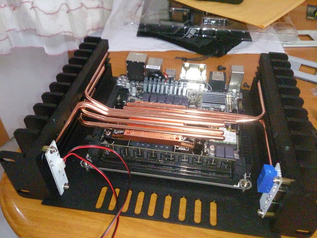 HDPLEX Fanless H1.S computer case CAS with AMD  GIGA F2A88XN-WIFI