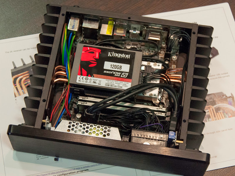 H1.S fanless pc chassis with ASRock B85 ITX