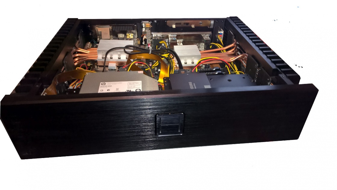 HDPLEX 2nd Gen H5 case with GTX950 and 100W Linear PSU