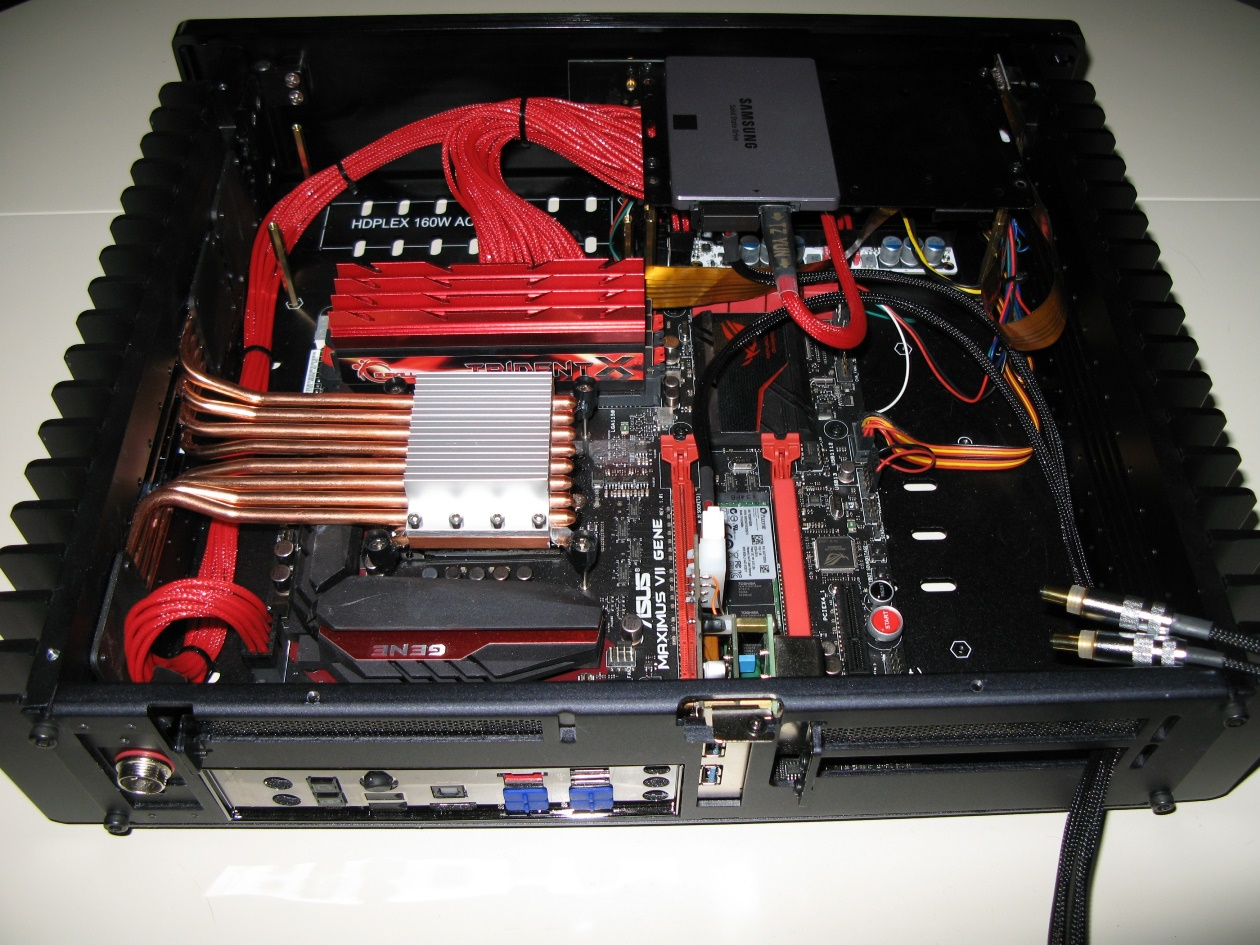 HDPLEX 2nd Gen H5 fanless pc case with PPA Sutio Audio Grade USB 3.0