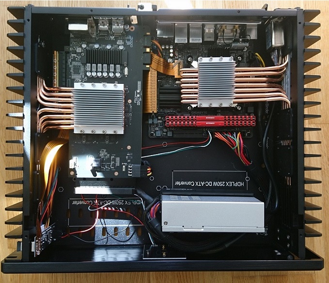 Passive cooled GTX970 in HDPLEX 2nd Gen H5 fanless PC case