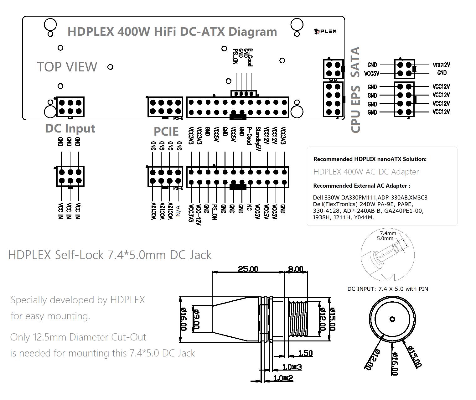 Hdplex 400w Eps Wiring Diagram    Sffpc