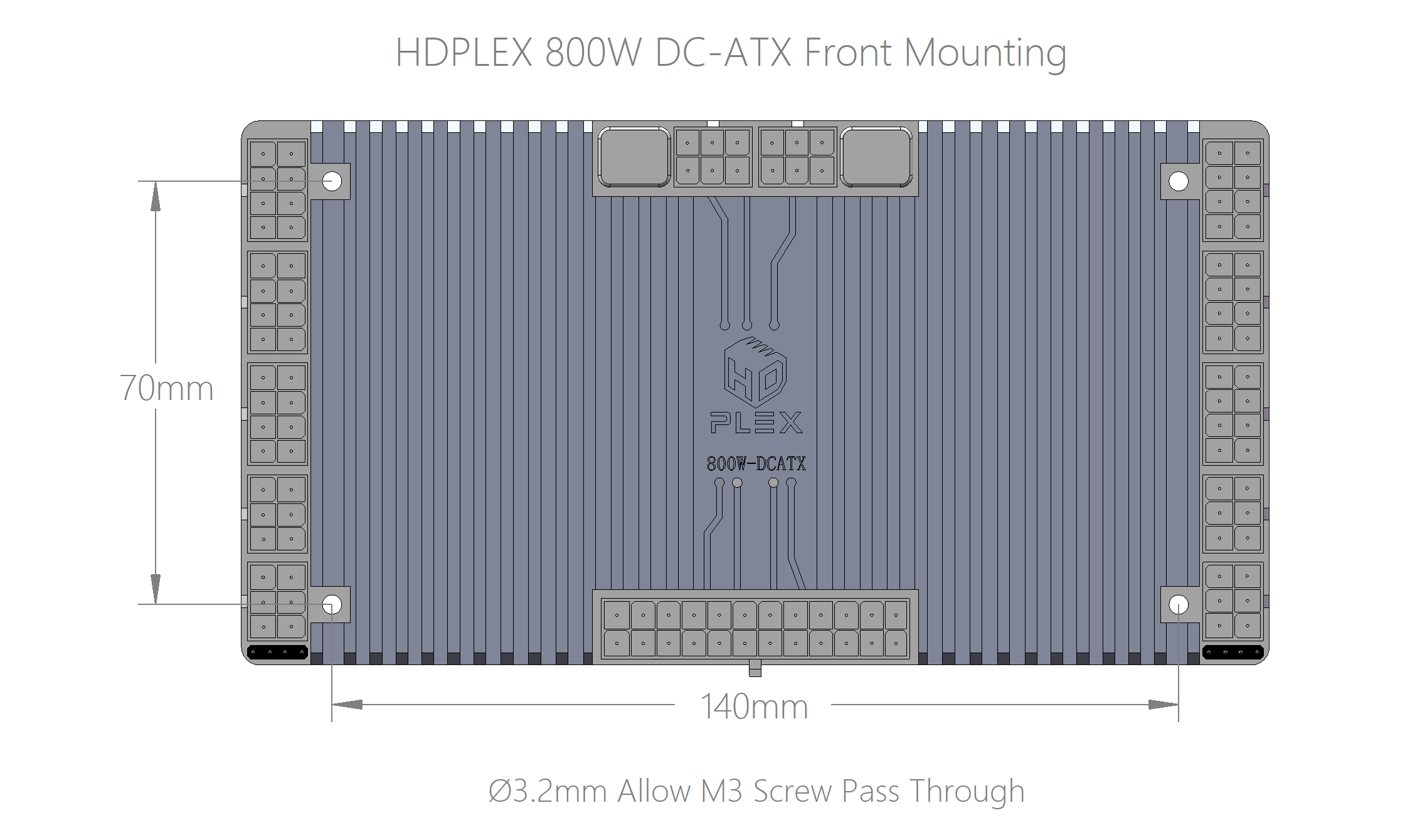 HDPLEX 800W DC-ATX Converter Mounting