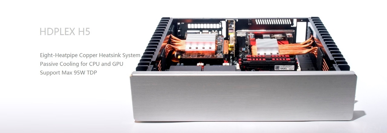 HDPLEX 2nd Gen H5 Fanless PC case